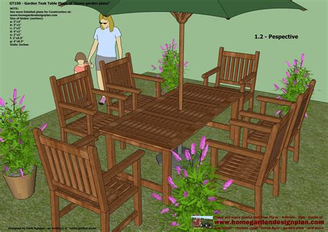 Garden Furniture Plans Free
