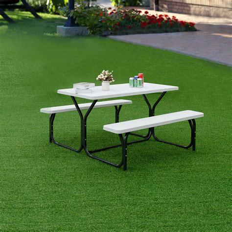 Garden Table Bench Set