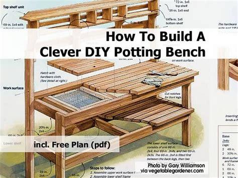 Gardening Bench Plans