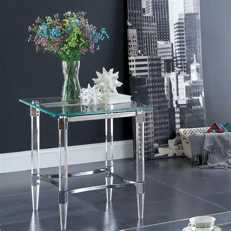 Garnett Glass End Table