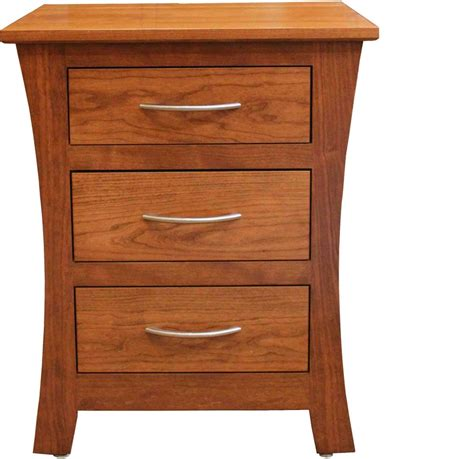 Garrett 3 Drawer Nightstand