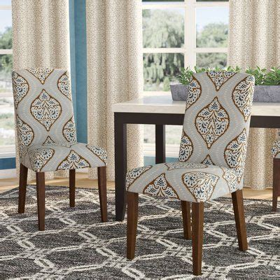 Garside Back Parsons Upholstered Parsons Chair (Set of 2)