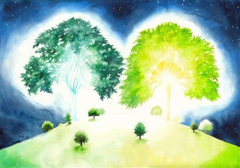 Garten Eden Zwei Bäume