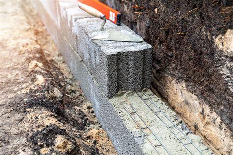 Gartenmauer Fundament