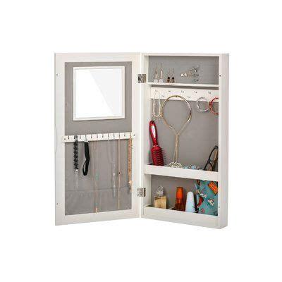 Garwood Over The Door Jewelry Armoire with Mirror