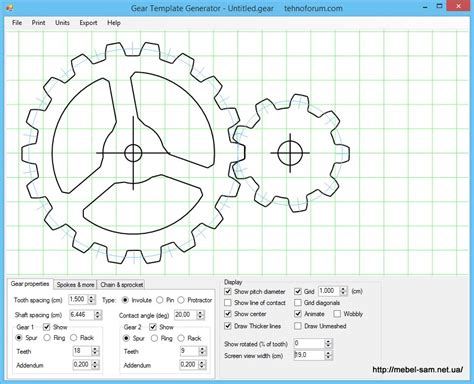 Gear Template Maker