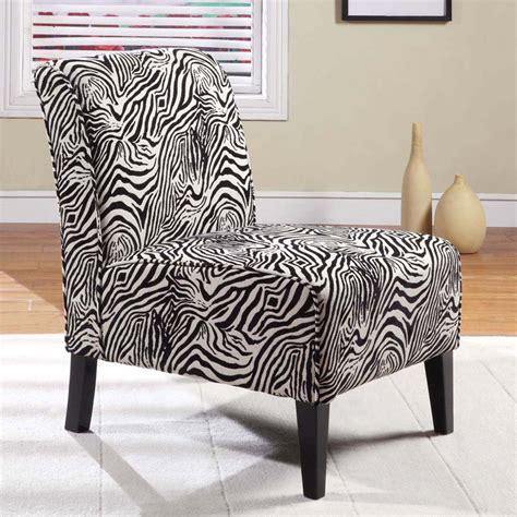 Geira Linen Zebra Slipper Chair