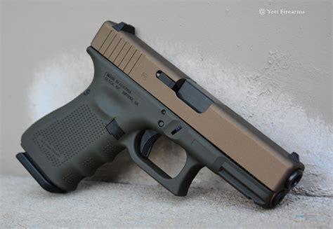 Glock-19 Gen 4 Glock 19 Bronze Slide Release.