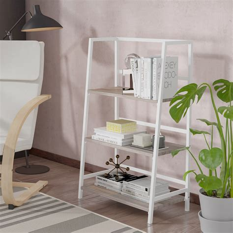Georgette 3 Tier Folding Etagere Bookcase