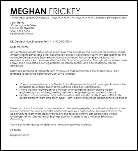 example cover letter goldman sachs geotechnical engineer cover letter for resume