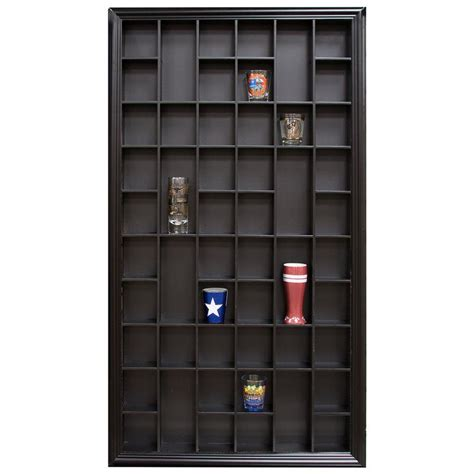Gerry Traditional Shot Glass Case Wall Shelf