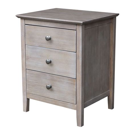 Gilmer 3 Drawer Nightstand