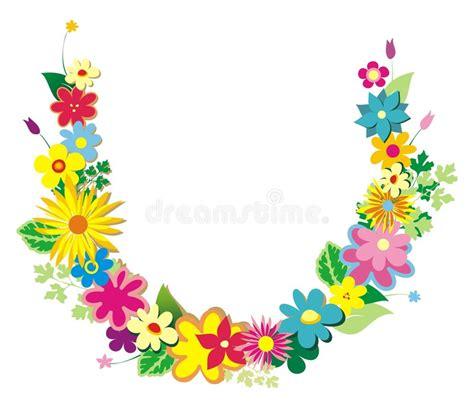 Girlanden Der Blumen Vektor Abbildung Illustration Von