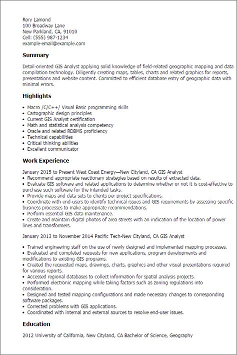 sample resume for gis engineer gis analyst resume template my perfect resume - Geographic Information System Engineer Sample Resume