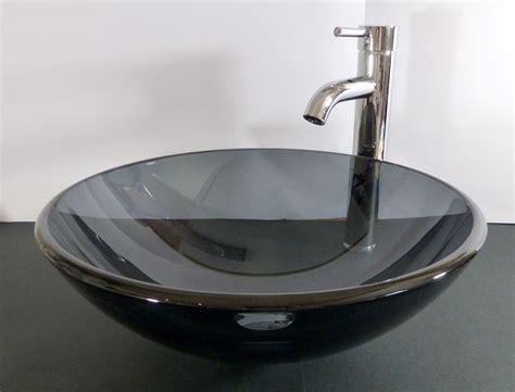 Glas Waschbecken Grau
