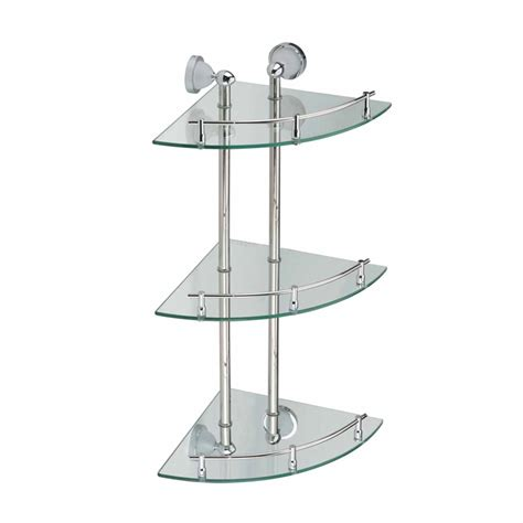 Glass Corner Wall Shelf