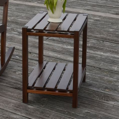 Glen Ullin Slat Top End Table