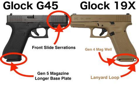 Glock-19 Glock 19 9mm Vs 45.