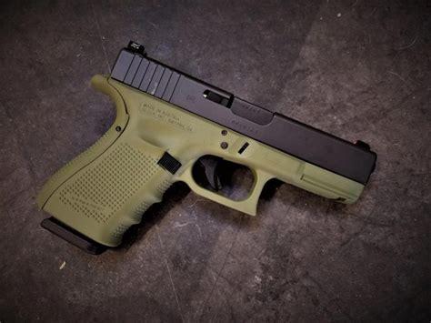Glock-19 Glock 19 Cerakote Lime Green.
