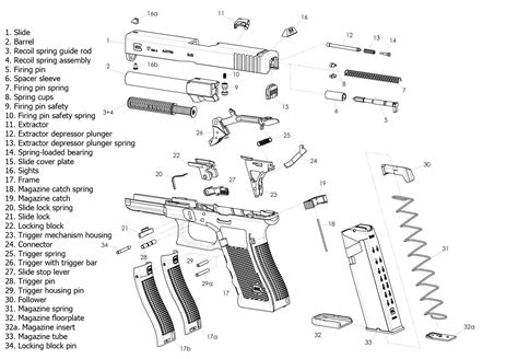 Glock-19 Glock 19 Gen 4 Exploded View.