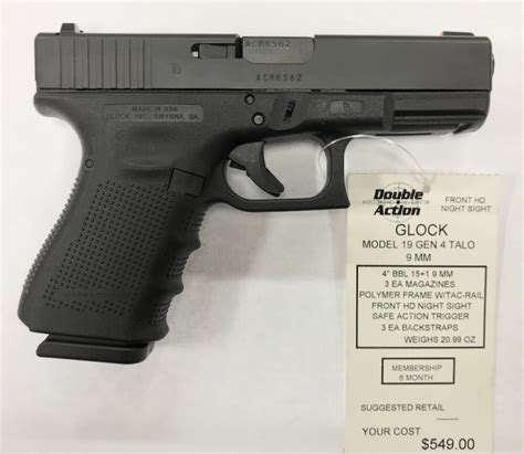 Glock-19 Glock 19 Gen 4 Talo Edition Price