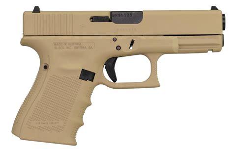 Glock-19 Glock 19 Gen 4 Tan Slide.