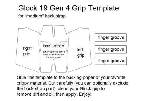 Glock-19 Glock 19 Gen 4 Template Skate Tape.