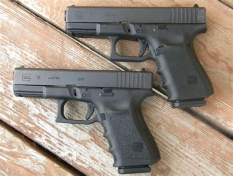 Glock-19 Glock 19 Gen3 Versus Gen4.