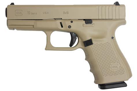Glock-19 Glock 19 Gen4 9mm Desert Sand.