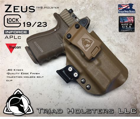 Glock-19 Glock 19 Holster With Light And Rmr.
