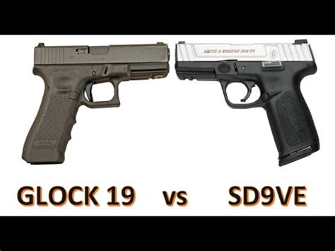 Glock-19 Glock 19 Vs Smith And Wesson Sd9ve.
