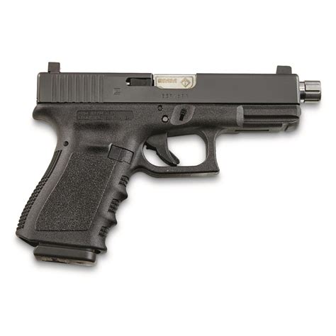 Glock-19 Glock 19 With Threaded Barrel Suppressor Ready.