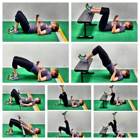glute bridge variations exercise