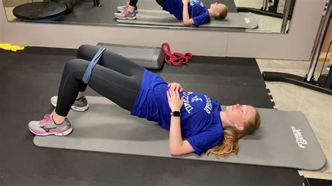 glute bridge with banded abductions