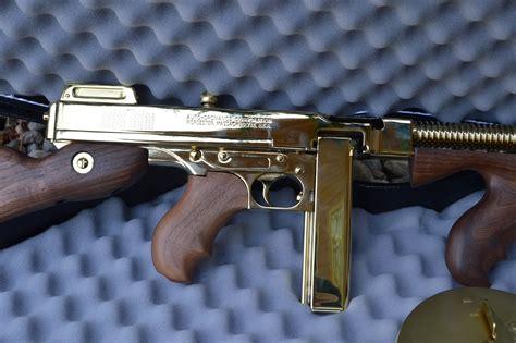 Gunkeyword Gold Tommy Gun For Sale.