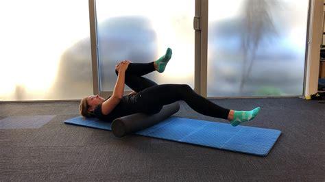 good hip flexor stretches youtube foam rolling neck