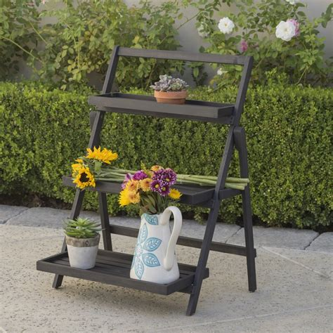 Goreville Modern Outdoor Multi-Tiered Plant Stand