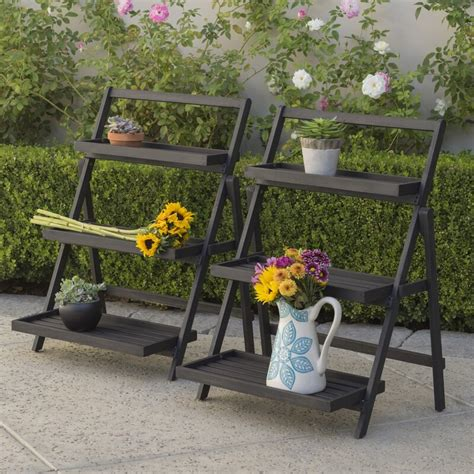 Goreville Outdoor Multi-Tiered Plant Stand (Set of 2)