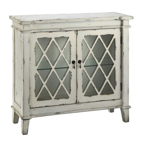 Goshen 2 Glass Door Accent Cabinet