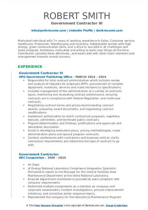 Resume Example Of Independent Contractor Resume resume sample with foxy check out the strategy on this government contractor resumes sample