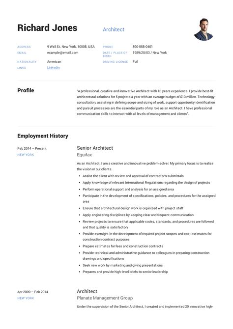 graduate architect resume sample sample architect resume