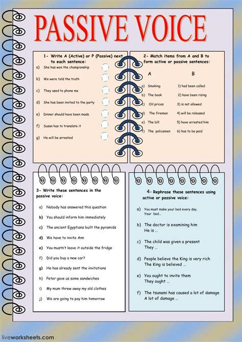 grammar exercises passive voice pdf