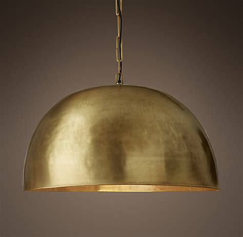 Brass Grand Brass Dome Pendant.