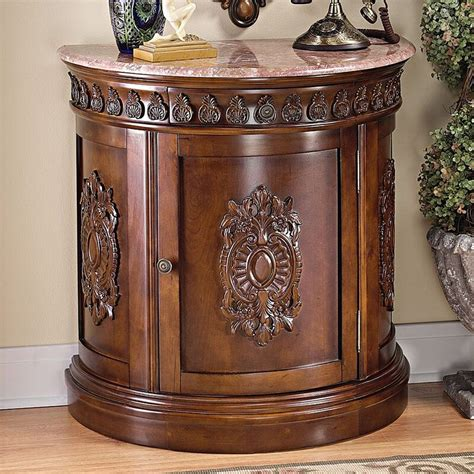 Grand Medallion Crescent Accent Cabinet