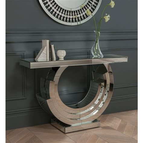 Grigor Mirrored Console Table