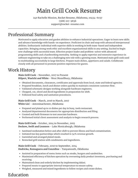 Restaurant Line Cook Resume Examples Assistant Cook Resume Samples Jobhero