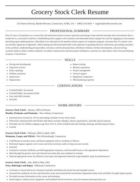 stock clerk resume no experience phenomenal resume opening