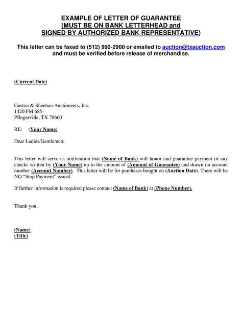 Guarantee Letter Format Us Visa 51 Guarantee Letter Samples Sample Templates