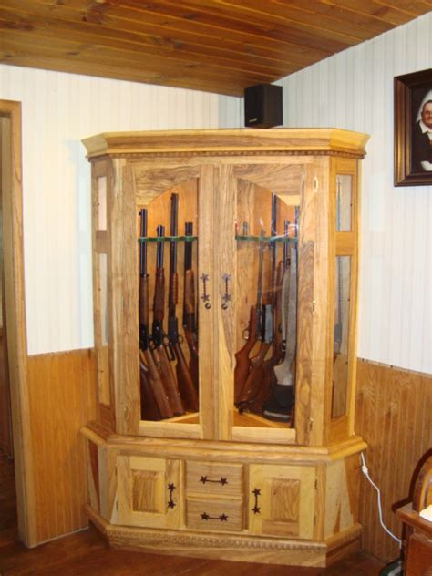 gun cabinets woodworking projects