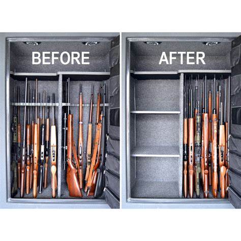 gun safe storage rods